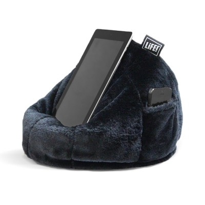 iCrib Tablet Bean Bag Cushion - Black Faux Fur