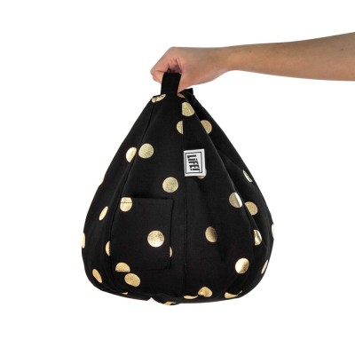 iCrib Tablet Bean Bag Cushion - Black Gold Coin