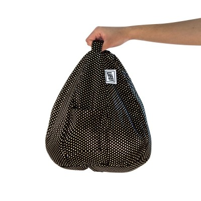 iCrib Tablet Bean Bag Cushion - Black Gold Dust