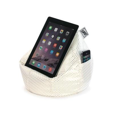 iCrib Tablet Bean Bag Cushion - White Gold Dust