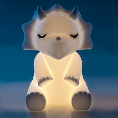 Soft Touch Sensitive LED Triceratops Night Light