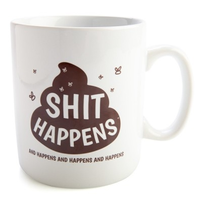 Koolface Sh*t Happens Giant Coffee Mug