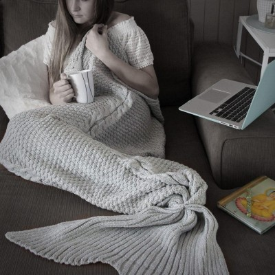 Luxe Adult Mermaid Tail Blanket