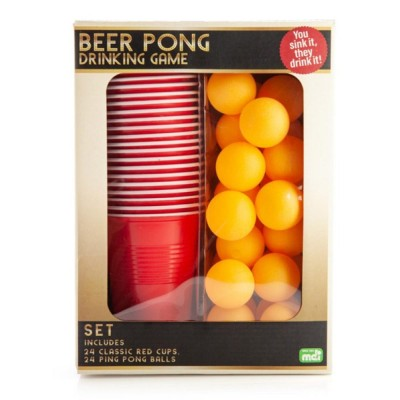 Beer Pong Set - 24 Cups, 24 Balls