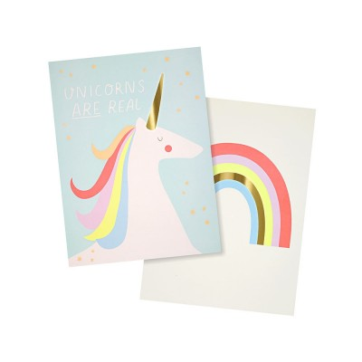 Meri Meri Rainbow & Unicorn - 2 Art Prints