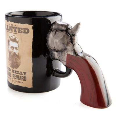 Ned Kelly Wanted 3D Pistol Mug