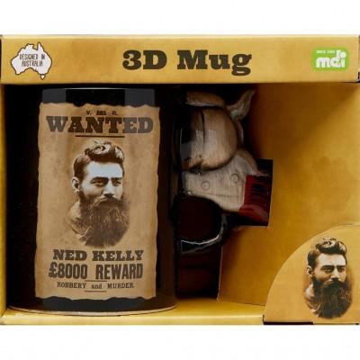 Ned Kelly 3D Pistol Mug