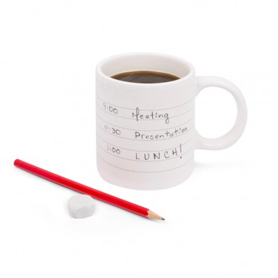 Notepad Write On Mug