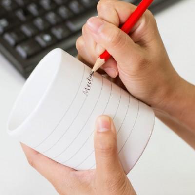 Personalisable Notepad Mug