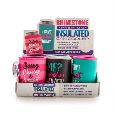 Rhinestone Can Cooler