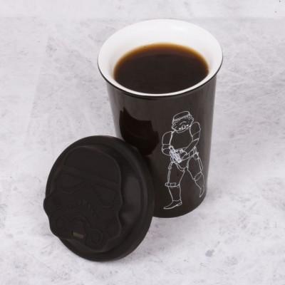 Original Star Wars Stormtrooper Ceramic Travel Mug - Black