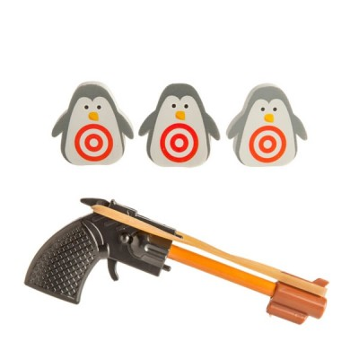 Desktop Stationery Set Game Penguin Shooting
