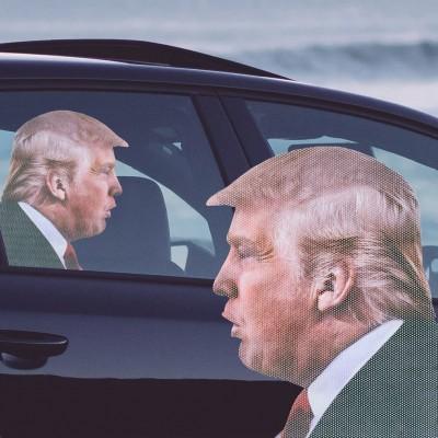 Ride with Trump Car Window Sticker