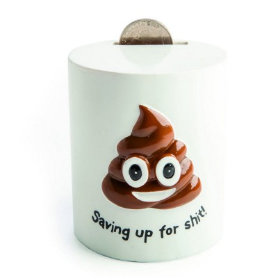Smiling Poo Saving Up For Shit Money Box