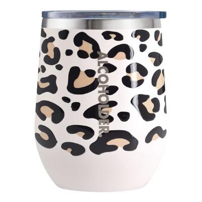 TraVino Stemless Leopard Print Vacuum Insulated Wine Tumbler
