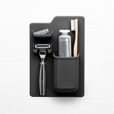 Tooletries Toothbrush and Razor Holder Charcoal