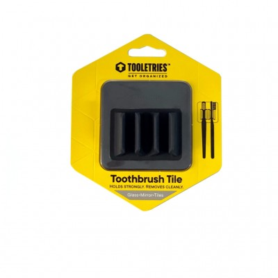Tooletries Double Toothbrush Tile Holder Charcoal